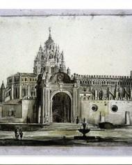 Postal dibujo Catedral